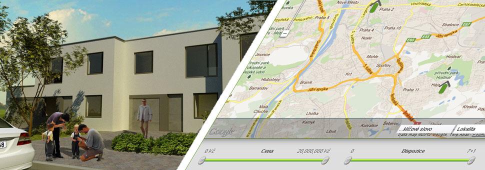 Najděte si s námi nové bydlení!Vyberte si bydlení ve Vámi preferované lokalitě. V naší databázi naleznete stovky bytů z nových projektů!